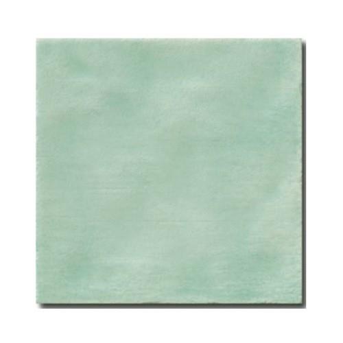Faience rustique patinée TURQUOISE 15x15 cm -   - Echantillon - zoom