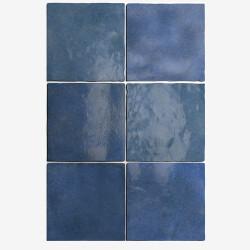 Carrelage effet zellige 13.2x13.2 ARTISAN BLEU COLONIAL 24460 -   - Echantillon Equipe