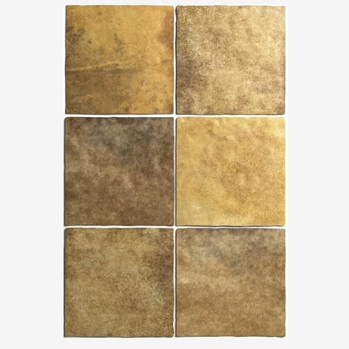 Carrelage effet zellige 13.2x13.2 ARTISAN OR GOLD 24463 -   - Echantillon - zoom