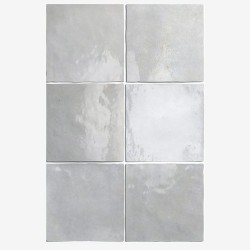 Carrelage effet zellige 13.2x13.2 ARTISAN GRIS 24459 -   - Echantillon Equipe