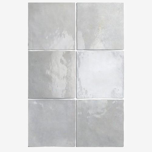Carrelage effet zellige 13.2x13.2 ARTISAN GRIS 24459 -   - Echantillon - zoom