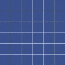 Mosaique bleu barbeau 5x5 sur trame 30x30 cm AVIO MATT-   - Echantillon CE.SI