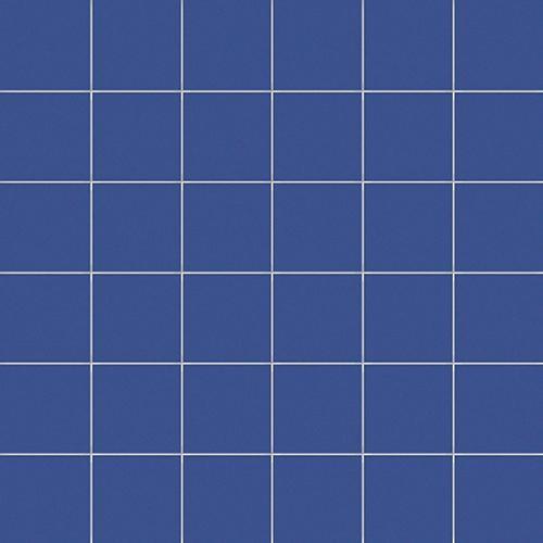 Mosaique bleu barbeau 5x5 sur trame 30x30 cm AVIO MATT-   - Echantillon - zoom