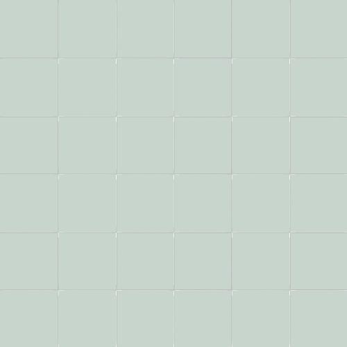 Carrelage uni 5x5 cm vert céladon EDERA MATT sur trame -   - Echantillon - zoom