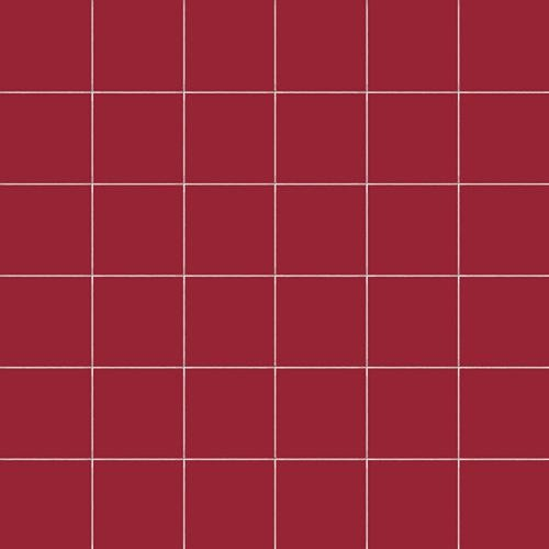 Carrelage uni 5x5 cm RUBINO MATT sur trame -   - Echantillon - zoom