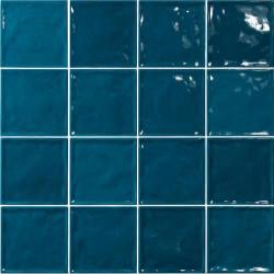 Carrelage effet zellige bleu canard 15x15 CHIC BONDI -   - Echantillon El Barco