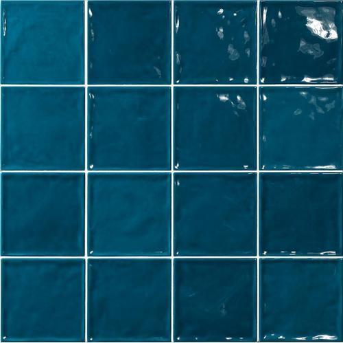 Carrelage effet zellige bleu canard 15x15 CHIC BONDI -   - Echantillon - zoom