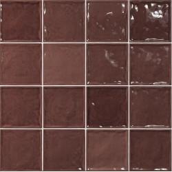 Carrelage effet zellige marron 15x15 CHIC BURDEOS -   - Echantillon El Barco