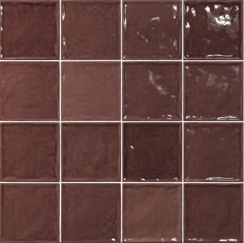 Carrelage effet zellige marron 15x15 CHIC BURDEOS -   - Echantillon - zoom