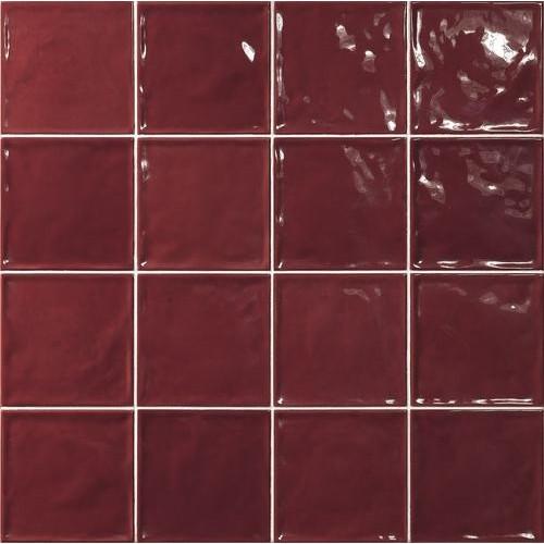 Carrelage effet zellige rouge 15x15 CHIC CARMIN -   - Echantillon El Barco