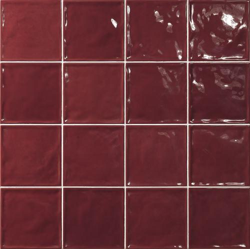 Carrelage effet zellige rouge 15x15 CHIC CARMIN -   - Echantillon - zoom