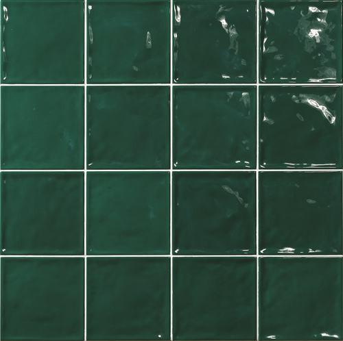 Carrelage effet zellige vert 15x15 CHIC Verde -   - Echantillon - zoom