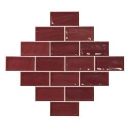 Carrelage effet zellige 7.5x15 GLAMOUR CARMIN -    - Echantillon El Barco