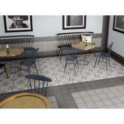 Carrelage uni vieilli gris 20x20 cm ART NOUVEAU GREY 24395 -   - Echantillon Equipe