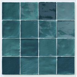 Carrelage effet zellige turquoise 10x10cm STOW MIX TURQUESE -   - Echantillon Natucer