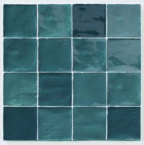Carrelage effet zellige turquoise 10x10cm STOW MIX TURQUESE -   - Echantillon - zoom