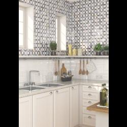 Faience murale blanche patinée ETNIA 10x20cm -   - Echantillon Vives Azulejos y Gres
