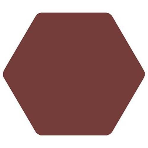Carrelage tomette bordeaux 25x29cm TOSCANA MORADO-   - Echantillon - zoom