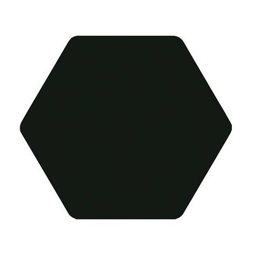Carrelage tomette noir 25x29cm TOSCANA NEGRO-   - Echantillon Bestile