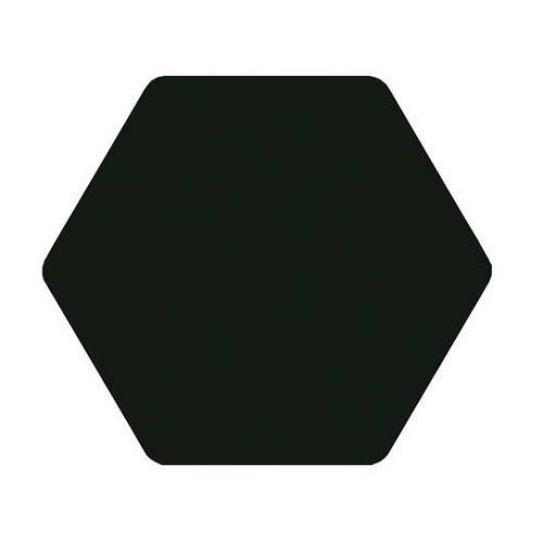 Carrelage tomette noir 25x29cm TOSCANA NEGRO-   - Echantillon - zoom