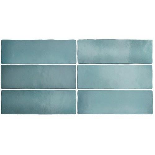 Faience dénuancée bleu clair 6.5x20 cm MAGMA AQUAMARINA 24966 - 0.  - Echantillon Equipe