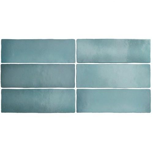 Faience dénuancée bleu clair 6.5x20 cm MAGMA AQUAMARINA 24966 - 0.  - Echantillon - zoom