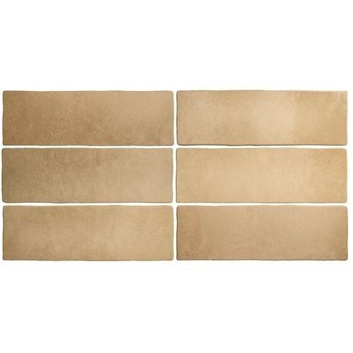 Faience dénuancée brun clair 6.5x20 cm MAGMA AUTOMN 24963 - 0.  - Echantillon Equipe