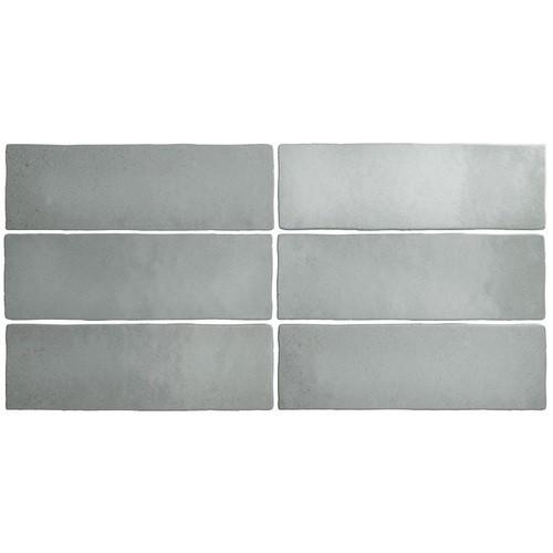 Faience dénuancée gris 6.5x20 cm MAGMA GREY STONE 24960 - 0.  - Echantillon - zoom