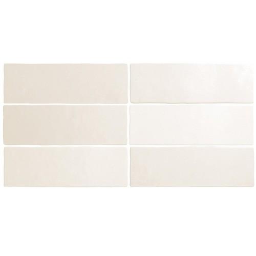 Faience dénuancée blanche 6.5x20 cm MAGMA WHITE 24958 - 0.  - Echantillon - zoom