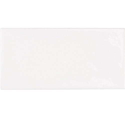 Faience effet zellige blanche 6.5x13.2 VILLAGE WHITE 25588 -  m² - Echantillon Equipe