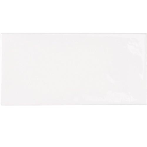 Faience effet zellige blanche 6.5x13.2 VILLAGE WHITE 25588 -  m² - Echantillon - zoom