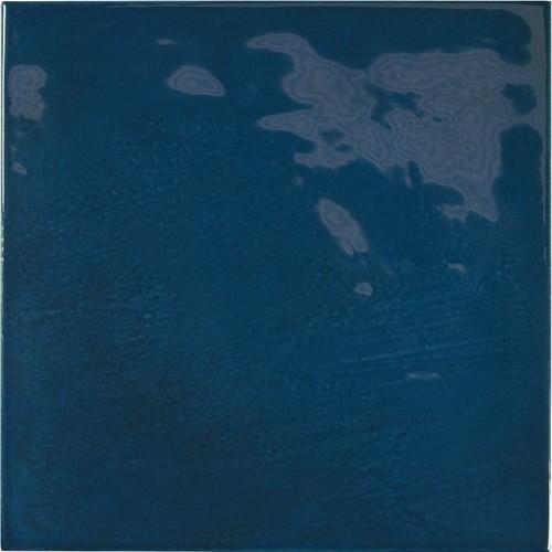 Faience effet zellige bleu nuit 13.2x13.2 VILLAGE ROYAL BLUE 25589 -   - Echantillon - zoom