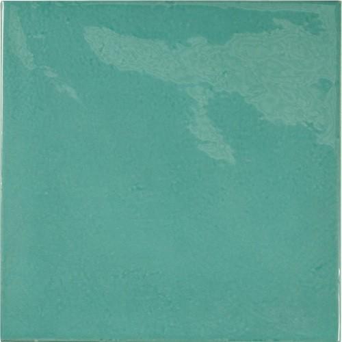 Faience effet zellige bleu turquoise 13.2x13.2 VILLAGE TEAL 25590 -   - Echantillon Equipe