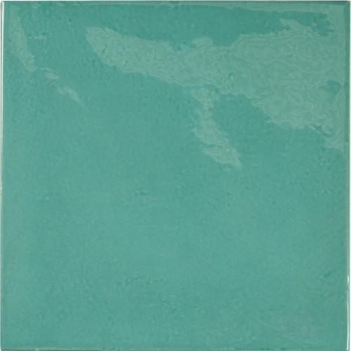 Faience effet zellige bleu turquoise 13.2x13.2 VILLAGE TEAL 25590 -   - Echantillon - zoom