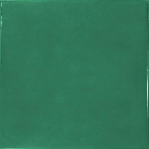 Faience effet zellige vert émeraude 13.2x13.2 VILLAGE ESMERALD GREEN 25595-   - Echantillon - zoom