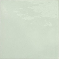 Faience effet zellige vert d'eau 13.2x13.2 VILLAGE MINT 25622 -   - Echantillon Equipe