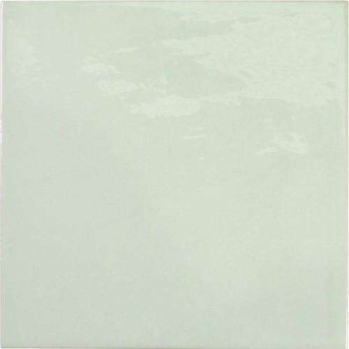 Faience effet zellige vert d'eau 13.2x13.2 VILLAGE MINT 25622 -   - Echantillon - zoom