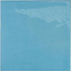Faience effet zellige bleu azur 13.2x13.2 VILLAGE AZURE BLUE 25625 -   - Echantillon Equipe