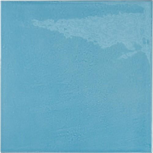 Faience effet zellige bleu azur 13.2x13.2 VILLAGE AZURE BLUE 25625 -   - Echantillon - zoom