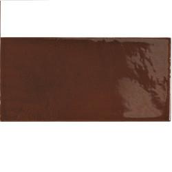 Faience effet zellige marron 6.5x13.2 VILLAGE WALNUT BROWN 25627 - - Echantillon Equipe