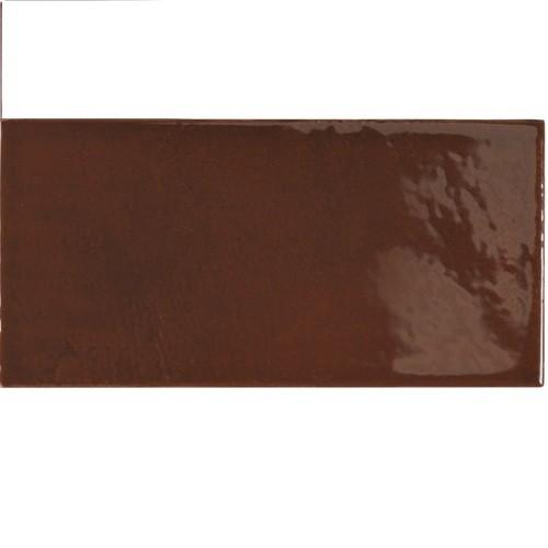 Faience effet zellige marron 6.5x13.2 VILLAGE WALNUT BROWN 25627 - - Echantillon - zoom