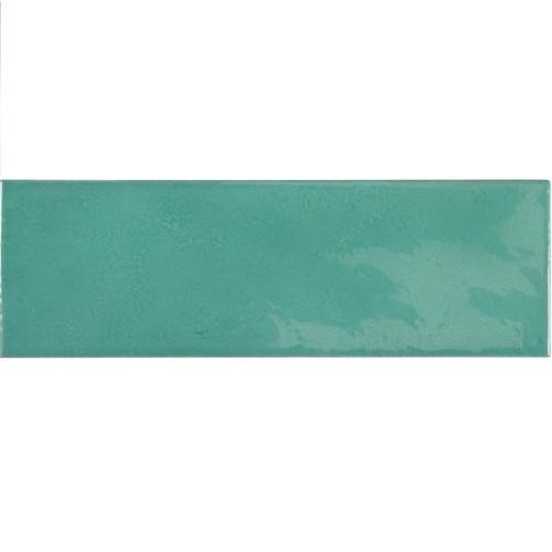 Faience effet zellige bleu turquoise 6.5x20 VILLAGE TEAL 25631 - - Echantillon Equipe