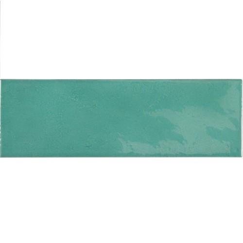 Faience effet zellige bleu turquoise 6.5x20 VILLAGE TEAL 25631 - - Echantillon - zoom