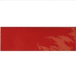 Faience effet zellige rouge 6.5x20 VILLAGE VOLCANIC RED 25633 - 0.  - Echantillon Equipe