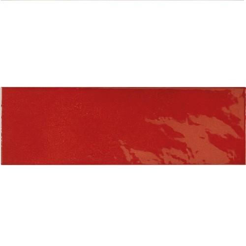 Faience effet zellige rouge 6.5x20 VILLAGE VOLCANIC RED 25633 - 0.  - Echantillon - zoom