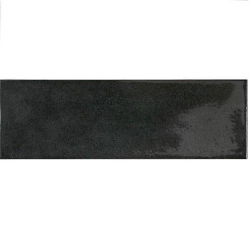 Faience effet zellige noir 6.5x20 VILLAGE BLACK 25641 -   - Echantillon - zoom