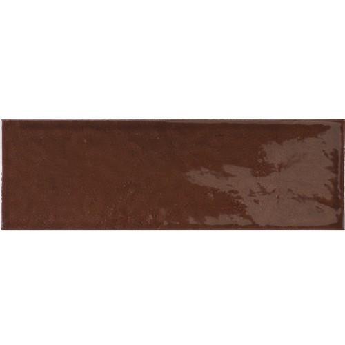 Faience effet zellige marron 6.5x20 VILLAGE WALNUT BROWN 25644 - - Echantillon - zoom