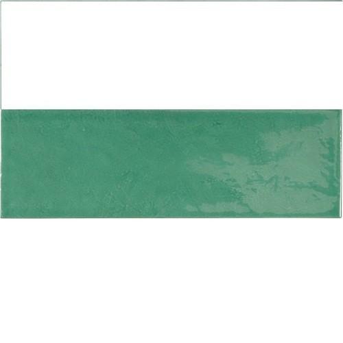 Faience effet zellige vert émeraude 6.5x20 VILLAGE ESMERALD GREEN 25645 -   - Echantillon - zoom
