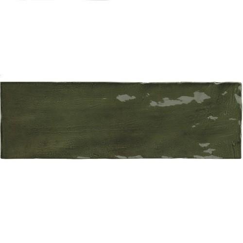Faience nuancée effet zellige vert 6.5x20 RIVIERA BOTANICAL GREEN 25847 - - Echantillon Equipe