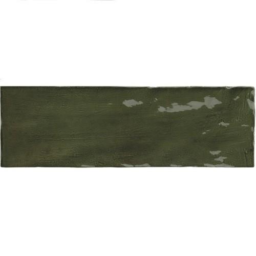 Faience nuancée effet zellige vert 6.5x20 RIVIERA BOTANICAL GREEN 25847 - - Echantillon - zoom